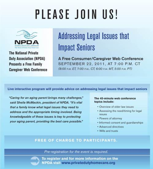 NPDA Web Conference on Elder Law